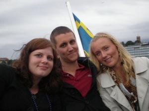 Sandra, Jonatan och Josefin.